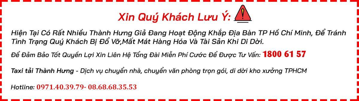 taxi tải Thành Hưng TPHCM